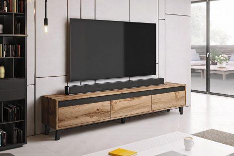Komoda pod telewizor to oszczędność miejsca i praktyczne rozwiązanie!